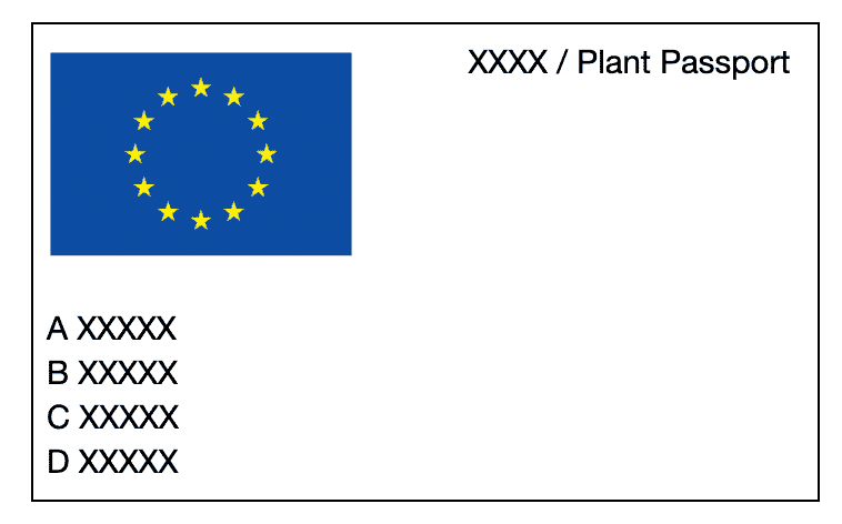 Free EU Plant Passport Template